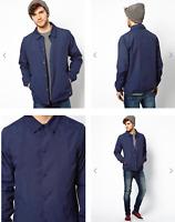 RRP - £45.00 Dickies Men's Torrance Coach Jacket, Navy Blue, Size S