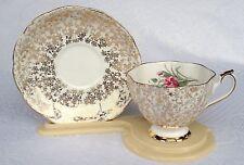 Royal Albert 'OLD MARK' TEA CUP & Saucer - pink carnation/gold chintz (468)