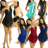 Women's Adult Sleeveless Ballet Dance Gymnastics Leotard Skating Dress Costume