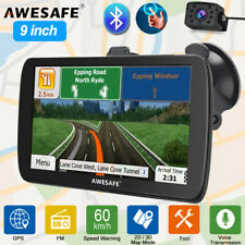 "9""awesafe GPS Navigator Truck RV Car Blutooth Navigation System SAT NAV 8gb Maps"