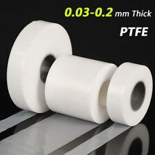 Ultra Thin Ptfe Film 003mm To 02mm Plastic Film Sheets White Width 50mm 100mm