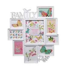 Large White Bird Wall Hanging Family Photo Frame Multi Picture Décoration Holder