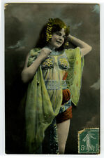 c 1907 French Cabaret Music Hall ARTIST IN COSTUME Litho photo postcard