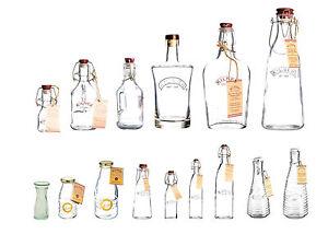 Kilner Clip Top Glass Bottles Milk Bottles Gin Perfume Bottles Carafe Clip Top