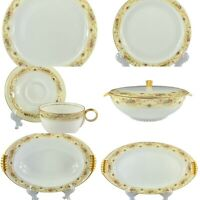 Meito China The Windsor Shape Serving Bowls Plates Cups 22 Kt Gold