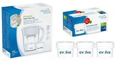 Aqua Optima White Minerva Water Jug + Replacement Refill Filter Packs Months