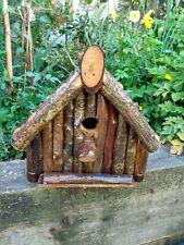backwoods log cabin style bird nesting box,slide out flloor easy clean