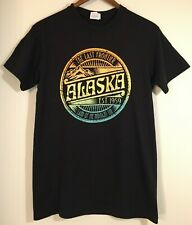Alaska Tshirt Black Size S Last Frontier Tourist Graphic
