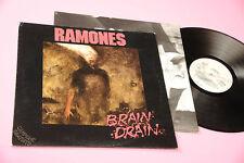 RAMONES LP BRAIN DRAIN ORIG ITALY 1989 PROMO + INNER !