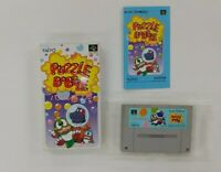 PUZZLE BOBBLE   With Box   Nintendo Super Famicom  SFC SNES Japan USED