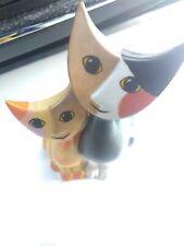 VINTAGE GOEBEL serafino and serafino cats  PORCELAIN   CATS