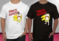 Retro Cartoon Space Ghost Super Hero Black White Men's T-shirt S-2XL