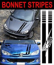 peugeot 206 bonnet stripes decals stickers graphics