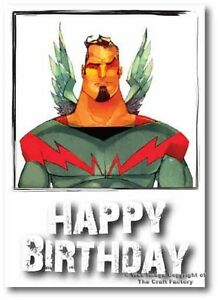 Birthday Card -  Mad and Rad Range -Super Angel - PB002