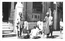 India real photo postcard Bombay Beggars