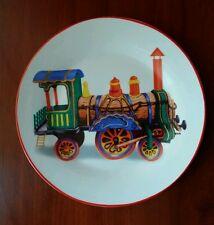 """Decorative plate """"train""""."""