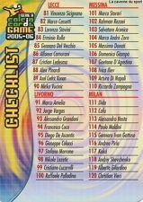 N°247 CHECK LIST 2/2 # ITALIA CARD PANINI CALCIO 2006