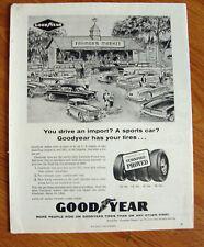 1960 Goodyear Tire Ad Farmer's Market Import Sports Car