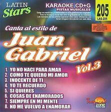 NEW - Karaoke: Juan Gabriel 3 - Latin Stars Karaoke by Gabriel, Juan