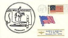 US NAVY : 1970 USS WILL ROGERS -Missile launch - GROTON/MARI SPACE STA