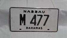 Free Shipping NASSAU BAHAMAS Big Truck License Plate #M477 expire 2013 Very Rare