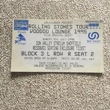 Rolling Stones  ticket Don Valley Stadium Sheffield 09/07/95 Voodoo Lounge #R2