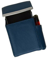 NAVY CIGARETTE Hard Case pouch Leather Flip Top Lighter Holder Men Women