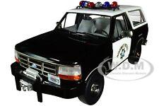 1995 FORD BRONCO POLICE CALIFORNIA HIGHWAY PATROL CHP 1/18 CAR GREENLIGHT 19089
