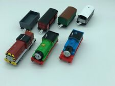 Thomas The Train Motorized 3 Train Lot With 4 Trailer Cars Used FREE SHIPPING