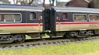 12 x 00 Gauge Bachmann Hornby MK4 Mark 4 Corridor Connector / Bellows 4mm BR
