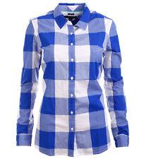 Tommy Hilfiger Damen Bluse Business Hemd Damenbluse blaukaro Größe XS-XXL