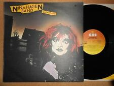 NINA HAGEN BAND Unbehagen - EX/VG Condition 1979 CBS Vinyl LP & Lyric Sheet