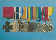 Vintage Advertising Postcard VICTORIA CROSS AND OTHER MEDALS Museum of Wales