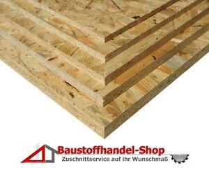 25mm OSB Platten Grobspanplatte Verlegeplatten Spanplatte 43€/m² Holzplatte OSB3