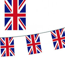 15m / 50ft UNION JACK BUNTING / BRITISH BUNTING for Fetes, Armed Forces Day,etc