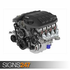 V8 ENGINE (AB443) CAR POSTER - Photo Picture Poster Print Art A0 A1 A2 A3 A4
