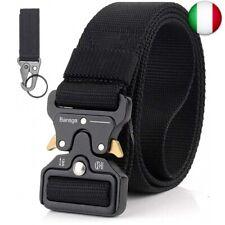Bansga Cintura Militare Tattica per Uomo Heavy Duty Cintura Militare  (A-nero)