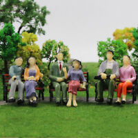 P25S 12pcs Seated 1:25 Painted Figures G Scale People Sitting Passenger