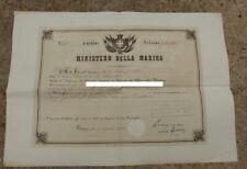 Diplôme SARDE pour la médaille Al Valore Militare - Guerre d'Italie