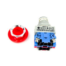 IDEC ABW411-R Red Pushbutton Switch Mushroom 1 NC 1 NO
