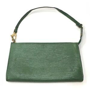 LOUIS VUITTON M52944 Epi Pochette Accessoires Hand Bag Pouch Epi Leather Green