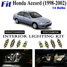 14pcs Super White LED Interior Light Kit For Honda Accord Sedan 1998-2002 Lamps