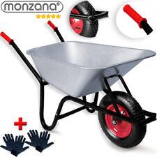 Schubkarre 100 Liter Bauschubkarre bis 250kg Gartenkarre verzinkt Stollenrad