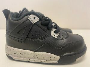 Toddler Nike Air Jordan IV 4 Retro Sneakers New, Black White Oreo 707432-003