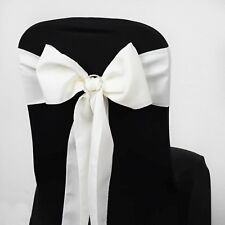 25/PK ~NEW~ Polyester Chair Sash Bow Wedding Party Banquet 15+ Colors!
