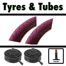 2x Pink Tyre 20 x 2.125 (54-406) Girls Bike Bicycle BMX & SCH Tubes