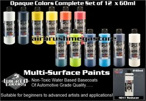 Wicked Colors 60ml Opaque Colours 12 Set + 240ml Reducer & Free Insured Freight