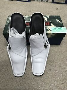 Men's Brand New Leather Shoes White Size 42