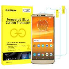 PASBUY 2 Pack Premium Tempered Glass Screen Protector for Motorola Moto E5 Plus
