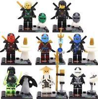Ninjago Minifigures Set of 8 Lloyd Kai Cole Jay Zane Mini Figures Fits Lego Toy